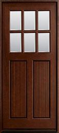 Classic Mahogany Wood Front Door  - GD-411W CST