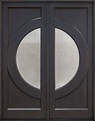 Modern Mahogany Wood Front Door  - GD-490PT DD CST