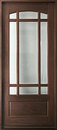 Classic Mahogany Wood Front Door  - GD-511W CST