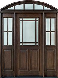 Classic Mahogany Wood Front Door  - GD-511 2SL TR CST