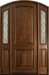Classic Mahogany Wood Front Door  - GD-552P 2SL CST
