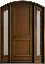Classic Cherry Wood Front Door  - GD-552 2SL CST