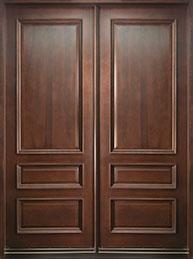 Classic Mahogany Wood Front Door  - GD-611 DD CST