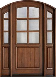Classic Cherry Wood Front Door  - GD-652 2SL CST