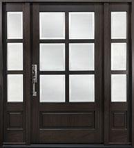 Classic Mahogany Wood Front Door  - GD-655PS 2SL CST