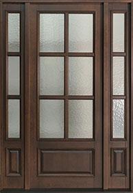 Classic Rift-Cut Oak Wood Front Door  - GD-655PW 2SL CST