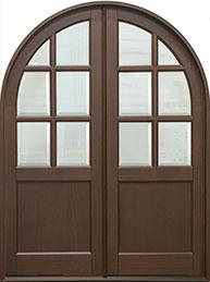 Classic Mahogany Wood Front Door  - GD-655R DD CST