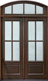 Classic Mahogany Wood Front Door  - GD-655 DD TR CST