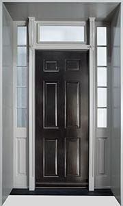 Classic Mahogany Wood Front Door  - GD-660H 2SL TR CST