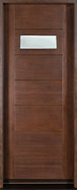 Modern Mahogany Wood Front Door  - GD-711G CST