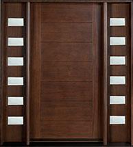 Modern Mahogany Wood Front Door  - GD-711 2SL CST