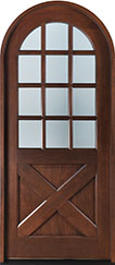 Classic Mahogany Wood Front Door  - GD-758 CST