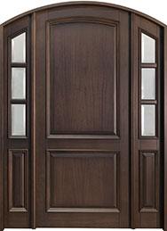 Classic Mahogany Wood Front Door  - GD-801PW 2SL CST