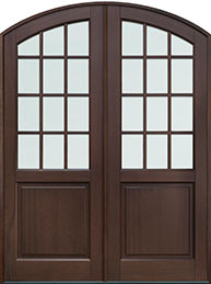 Classic Mahogany Wood Front Door  - GD-801P DD CST
