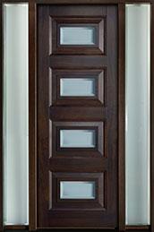 Modern Mahogany Wood Front Door  - GD-825PT 2SL CST