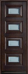 Modern Mahogany Wood Front Door  - GD-825PT CST