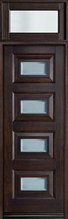Modern Mahogany Wood Front Door  - GD-825PT TR-EN3 CST