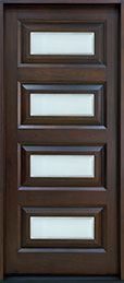 Modern Mahogany Wood Front Door  - GD-825W CST