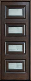 Modern Mahogany Wood Front Door  - GD-825 CST