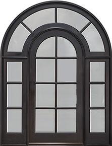 Classic Mahogany Wood Front Door  - GD-916 SL CST