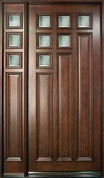 Modern Mahogany Wood Front Door  - GD-975W 1SL CST