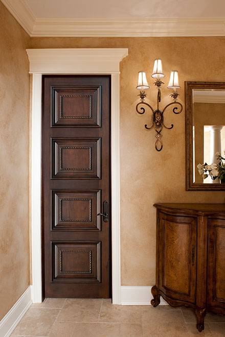 Artisan Mahogany Wood Interior Door - Single - DBI-4000D