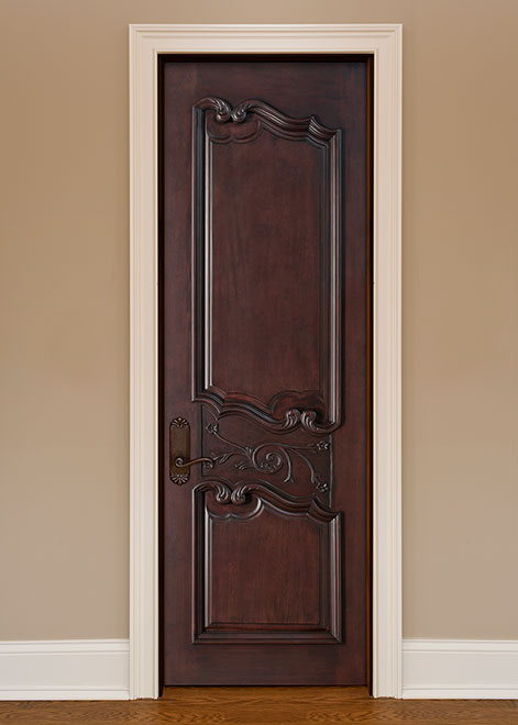 Artisan Mahogany Wood Interior Door - Single - DBI-9000