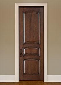 DBI-3030 Mahogany-Walnut Solid Wood Interior Door - Single