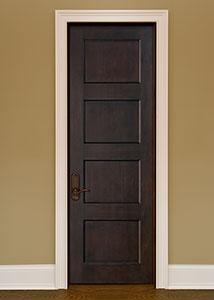 DBI-4000 Mahogany-Espresso Solid Wood Interior Door - Single