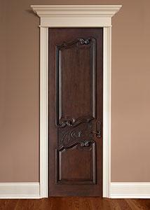 DBI-9000 Mahogany-Dark Mahogany Solid Wood Interior Door - Single