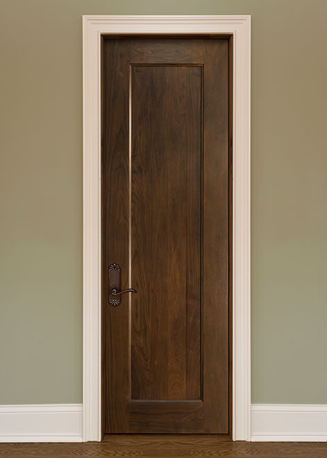 Classic Walnut Wood Interior Door - Single - DBI-1000B