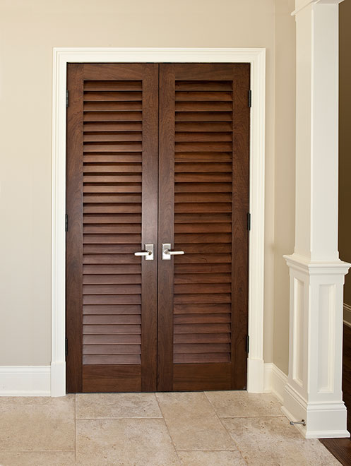 Classic Mahogany Wood Interior Door - Double - DBI-101LV DD