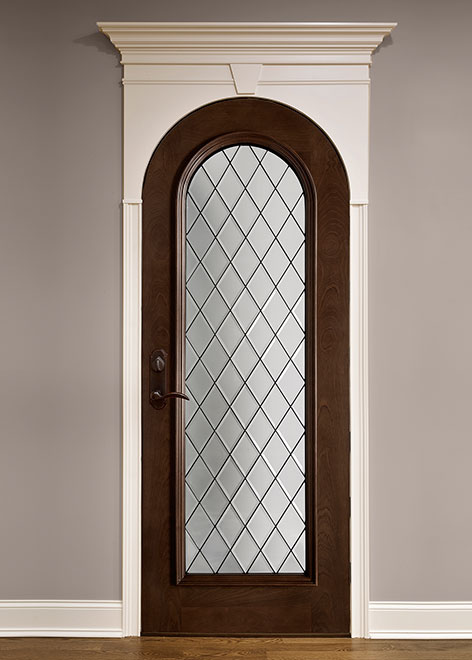 Wine-Cellar Mahogany Wood Interior Door - Single - DBI-123DG