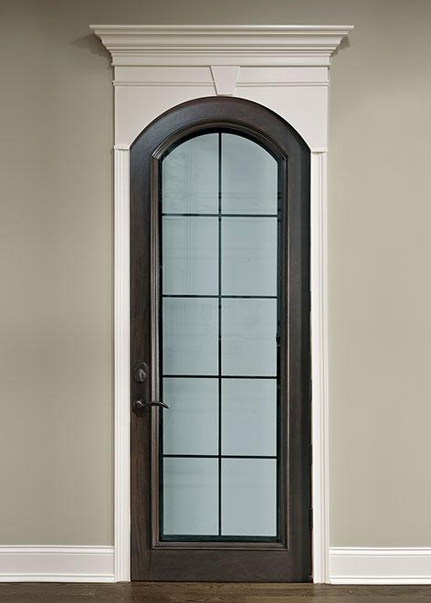 Wine-Cellar Mahogany Wood Interior Door - Single - DBI-123 Grill