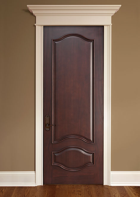 Classic Mahogany Wood Interior Door - Single - DBI-461