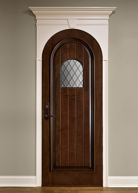Wine-Cellar Mahogany Wood Interior Door - Single - DBI-501DG