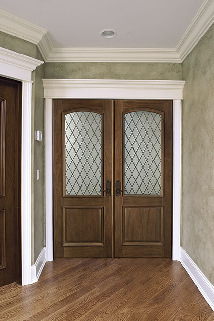 Classic Mahogany Wood Interior Door - Double - DBI-552DG DD
