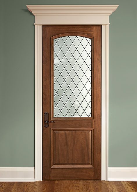 Classic Mahogany Wood Interior Door - Single - DBI-552DG