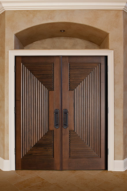 Classic Mahogany Wood Interior Door - Double - DBI-580 DD