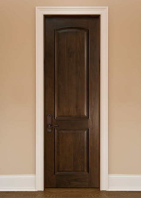 Classic Walnut Wood Interior Door - Single - DBI-701