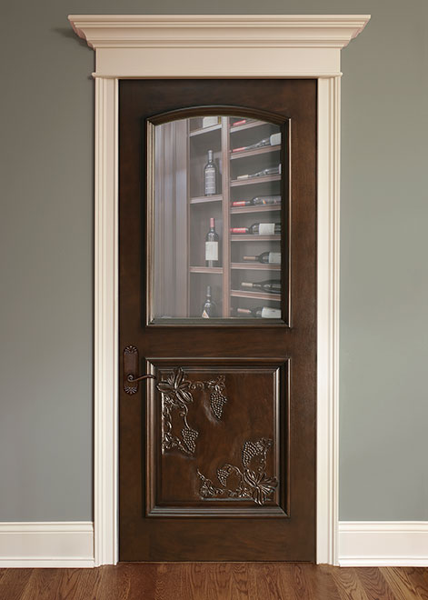 Wine-Cellar Mahogany Wood Interior Door - Single - DBI-711HCR