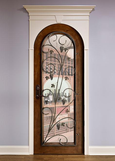 Wine-Cellar Mahogany Wood Interior Door - Single - DBI-732 Grill