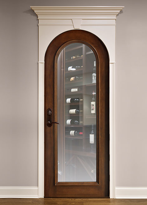 Wine-Cellar Mahogany Wood Interior Door - Single - DBI-732