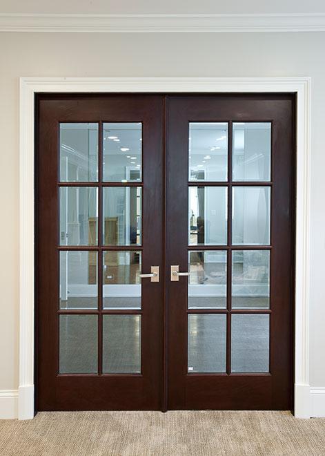 Classic Mahogany Wood Interior Door - Double - DBI-916 DD