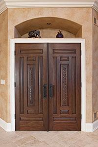 DBI-095T DD Mahogany-Walnut Solid Wood Interior Door - Double