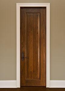 DBI-1000A Walnut-Natural Walnut Solid Wood Interior Door - Single