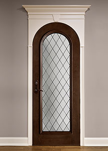Wine-Cellar Mahogany Wood Front Door  - GDI-123DG