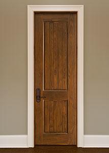 DBI-2000VG Walnut-Natural Walnut Solid Wood Interior Door - Single