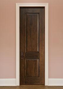 DBI-2000 Walnut-Dark Walnut Solid Wood Interior Door - Single