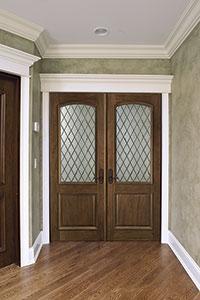DBI-552DG DD Mahogany-Walnut Solid Wood Interior Door - Double